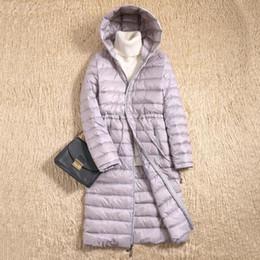 4a9ae616bf324 New 2019 Women Ultra Light Winter Down Jacket 90% White Duck Down Coat  Fashion Woman Korean Hooded Thin Puffer Jacket LP018