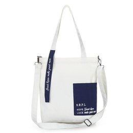 $enCountryForm.capitalKeyWord Australia - Canvas Bag Female Printed Letter Canvas Messenger Bag Trend Simple Art