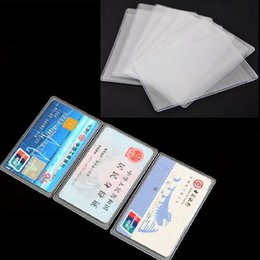 $enCountryForm.capitalKeyWord Australia - designer card holder 10pcs Pvc Transparent Credit Card Holder Protect Id Card Business Cover Drop Shipping Good Quality