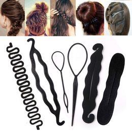 $enCountryForm.capitalKeyWord Australia - 1pcs Women Magic Foam Sponge Hairdisk Hair Device Donut Quick Messy Bun Updo Hair Clip Accessories Hair Styling Tools