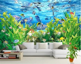 white 3d rose fabric Australia - Beautiful underwater world 3D TV background wall wall paper black and white