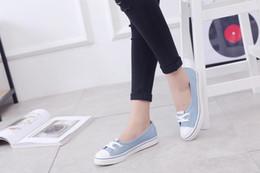 Ladies Soft Canvas Shoes Australia - Women Denim Shoes flats Fashion Casual Jeans Shoes Girl Classic Soft Flats Soles Students Spring Canvas Shoes Lady New Arrival