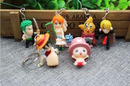 $enCountryForm.capitalKeyWord Australia - Cute Cartoon ONEPIECE Keychain Key Holder Bell Key Chain Keyring Charm Bag Auto Pendant Gifts