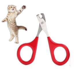 Wholesale clippers sizes for sale – custom New Arrival Dog Cat Small Size Nail Clipper Easy Carry Scissors Grooming Stainless Steel Cleaning Scissors For Pets Pet cleaning tools