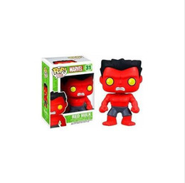 Red Hulk Figures Australia - new arrival Funko Pop Marvel Comics Avengers Red Hulk Bobble Head Vinyl Action Figure with Box Toy Gift all style funko