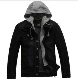 937fd9ebafc Denim Cowboy Hats Men NZ - fREE shipping 2019 Vomint New Men s Hooded Denim  Jackets Winter
