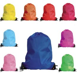 500pcs Nylon Drawstring Bag School Sport Bag Gym Swim Dance Shoes Backpack Rope Backpack Custom Bags Shoulder Bag Logo Printing Latest Fashion Storage Bags