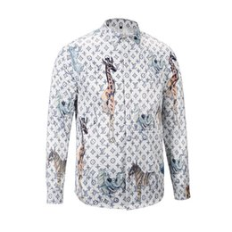 9da232fecc6 New Pattern Shirt Male Style Long Sleeves mens casual Slim fit Color Korean  Edition Trend Leisure Time Handsome Man t-shirt