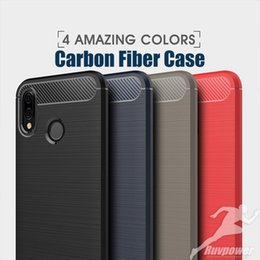 Fiber Max Australia - Carbon Fiber MIX-colour Case TPU Silicone Cover Matte Drawing Phone Cases Shell with Dust Cap For iPhone X Xr Xs Max