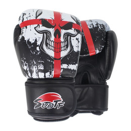 $enCountryForm.capitalKeyWord NZ - Suotf Mma Black Boxing Skull Sports Leather Gloves Tiger Muay Thai Boxing Pads Fight Women men Sanda Boxe Thai Glove Box Mma Box T190720