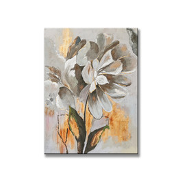 free art handmade flowers NZ - Free shipping modern abstract flowers Handmade canvas oil painting wall art pictures for living room home decoration no framed