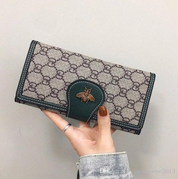 Wholesale old cell phones resale online - Factory brand women handbag retro imitation old lock long wallet fashion printed leather coin purse flip multi card leather handba