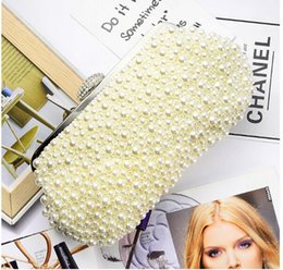 $enCountryForm.capitalKeyWord Australia - Pearl bag beaded box totes bag women party vintage acrylic plastic handbag 2019 summer luxury white wholesale