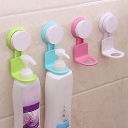 Super ShowerS online shopping - Practical Bathroom Shampoo Shower Gel Bottle Holder Wall Mounted Stand Suction Cup Hanging Super Sucker Hook Shelves Hanger