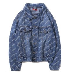 Wholesale asian denim jacket for sale – winter New Denim Jacket women Jean Coat Male Coat Jackets Asian Size