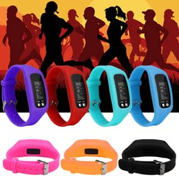 battery pedometers Australia - Long-life Battery Multifunction 6 Colors Digital LCD Pedometer Run Step Calorie Walking Distance Counter High Quality Fitness