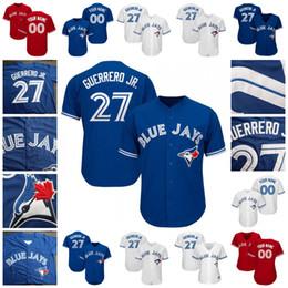 2d4a5731368 mlb jerseys 2019 - 27 Vladimir Vlad Guerrero Jr. Jr Blue Jays Jersey  Toronto Lourdes