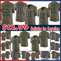 6be049be1 sale 2017 Salute to Service Jersey St.louis Rams 30 Todd Gurley 12 Aaron  Rodgers Ha Clinton-Dix 52 Clay Matthews Nelson Green Bays Packers
