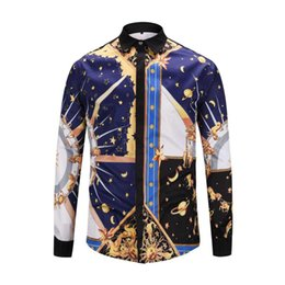 $enCountryForm.capitalKeyWord Australia - newest 2017 brand 3D Floral Print Mixture Colour casual harajuku luxury stylish Design mens long sleeved shirts M-3XL medusa shirt