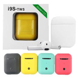 Vente en gros Coloré TWS i9s TWS Casque Sans Fil Bluetooth Écouteurs 5.0 Écouteurs Casque Sans Fil Pour iphone 8 X Tous Andriod Téléphone Avec Boîte Au Détail