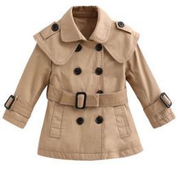 $enCountryForm.capitalKeyWord NZ - Fashion Autumn Baby Girl Trench Coat Children Clothing Girls Jacket Kids Clothe Outerwear Casual Long Sleeve Infantil Coats