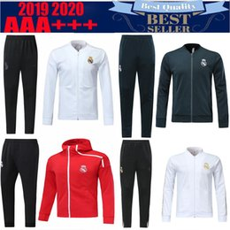 4e94b7131 18 19 Champions League Real Madrid Home tracksuit 2019 2020 KROOS ISCO  ASENSIO BALE third red Football uniform 3rd red training suit