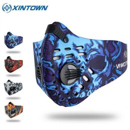 Discount ski mouth mask - XINTOWN Windproof Cycling Mask Winter Anti-Dust Mouth-Muffle Mask Running Skiing Anti-Pollution Masks Bicycle Face