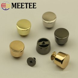 $enCountryForm.capitalKeyWord NZ - Meetee 12x11x8mm Round Head Rivet Screw Bags Decorative Studs Button Nail Rivets Metal Buckles Snap Hook DIY Leather Hardware