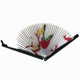 quality folding fans Australia - New 2PCS Paper Folding Chinese Oriental Floral Hand Fans Wedding Favours Table outstanding quality