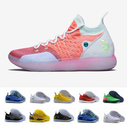 shoes new zoom kd Australia - 2019 New KD 11 EP 10 EYBL Multicolor Ice Blue Sports Zoom Men Basketball Shoes 11s Mens Kevin Durant Trainers Designer Sneakers 7-12