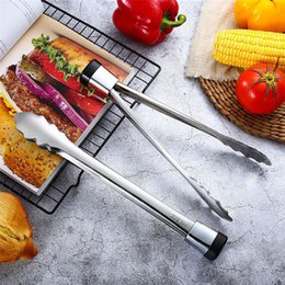 $enCountryForm.capitalKeyWord NZ - New BBQ Tongs 1PC Tongs Kitchen Cooking Salad Bread Serving Clamp Stainless Steel BBQ Clip 0422#30