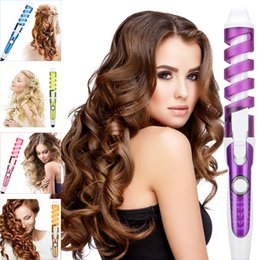 $enCountryForm.capitalKeyWord Australia - 2019 Professional Hair Curler Magic Spiral Curling Iron Fast Heating Curling Wand Electric Hair Styler Pro Styling Tool