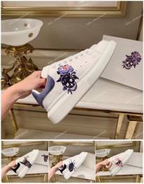 Women blue casual lace dress online shopping - 2020 New Women Men Designer Casual Shoes Printed Sneaker Lace up Walking Dress Party Luxury shoes sneakers Chaussures Skull Cat