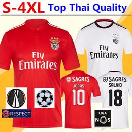 a3d609796 SL Benfica Soccer Jersey Tshirt 18 19 JOÃO FÉLIX Home Football Shirt JONAS  T-shirt PIZZI Adult Kids Kit Shirts Camisa Camiseta Maillot S-4XL