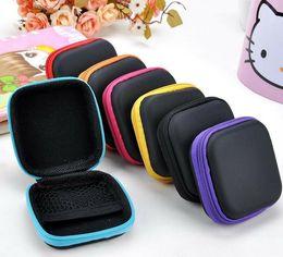 $enCountryForm.capitalKeyWord NZ - New Headphone Case PU Leather Earbuds Pouch Mini Zipper Earphone box Protective USB Cable Organizer Fidget Spinner Storage Bags