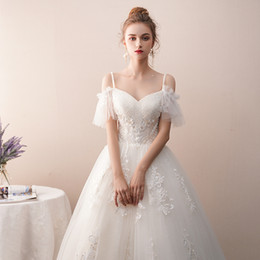 thin simple wedding dresses NZ - Wedding dress, the new veils over fairy princess bride contracted out thin yarn