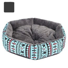 $enCountryForm.capitalKeyWord UK - Pet supplies special canvas hexagonal kennel cat Kennel Arctic fur dog bed pet kennel available all the year round