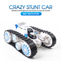 ElEctric control products online shopping - New product Remote control tank superimposed deformation multi function with LED lights and music car boy children gift model toy