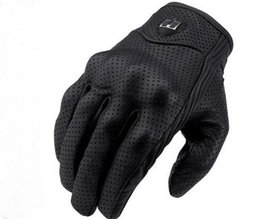 Motorcycle Leather Cycle Gloves Australia - The year of 2019 Moto Racing Gloves Leather cycling gloves Perforated Leather Motorcycle Gloves black color M L XL size