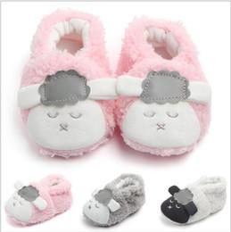 Cartoon Sheeps Australia - Baby Boys Girls Coral velvet sheep Cartoon Warm first walker shoes sneakers Infant Toddler Cosplay Sport Shoes Footwear Prewalker