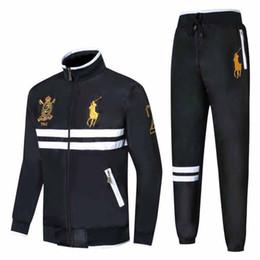 Horse Suit NZ - 2018 Men's Hoodies and Sweatshirts Sportswear Man Polo Jacket pants Jogging Jogger Sets Sports Big horse Tracksuits Sweat Suits