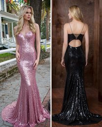 $enCountryForm.capitalKeyWord Australia - Fitted Bling Rose Pink Prom Dresses Sexy Tight Mermaid Gala Dress Shinny Backless Formal Evening Gowns Turkey robes de soirée musulmanes