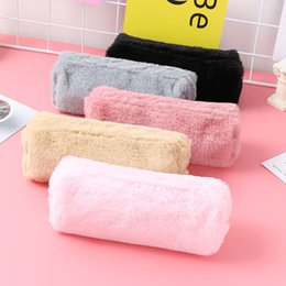 fantastic bags NZ - Newest Style Fashion Girl Cute Plush Fuzzy Fluffy Pencil Case Makeup Pouch Coin Purse Storage Bag