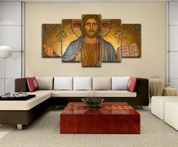 $enCountryForm.capitalKeyWord Australia - Jesus Christ,5 Pieces Home Decor HD Printed Modern Art Painting on Canvas (Unframed Framed)
