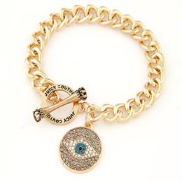 $enCountryForm.capitalKeyWord UK - Angel Evil Eye Pendant Bracelet Bangle Chain Rhinestone Temperament Bracelet European and American Style Jewelry Cheap DHL FREE