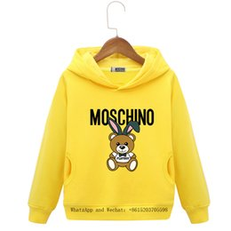 Chinese  2019 Spring And Autumn New Children's Clothes Fashion Girl Leisure Time Even Cap Knitting Sweater colors cartoon boys hoodie baby clothing manufacturers