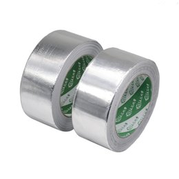 pipe tape UK - 1pc 5s 13s Waterproof Aluminum Foil Adhesive Sealing High Temperature Pipe Repairs Silver Tape 4.8cm X 24m Q190610