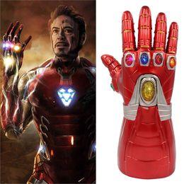 $enCountryForm.capitalKeyWord Australia - LED Light Thanos Infinity Gauntlet Avengers Infinity War Cosplay Energy Saving Lamp Gloves PVC Action Figure Model Toys Gift Halloween Props