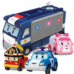 RobocaR poli online shopping - Silverlit Robocar Poli Rescue Team Model Car One Ambulance Torry kinds Alloy Cars Deformed Police Car LA86