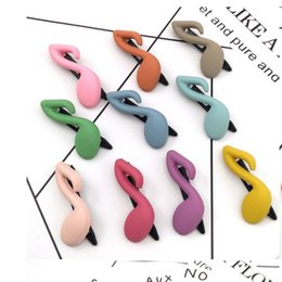 hair frog NZ - Korean-style New Style Color Bang Side hair clip accessories New And Unique Dull Polish barrettes Music Notes frog hair pins CJJ230